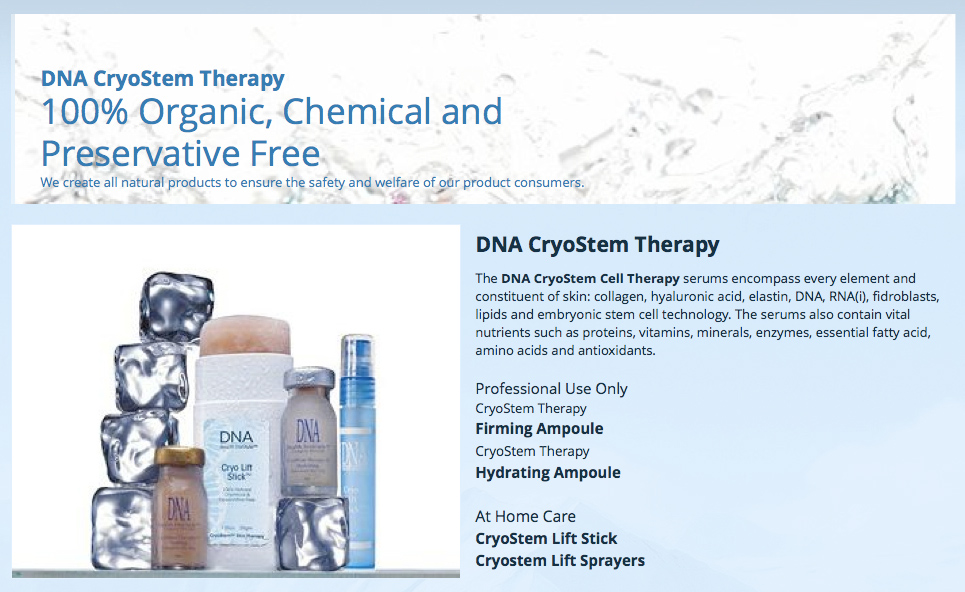 DNA CryoStem Therapy Bottles